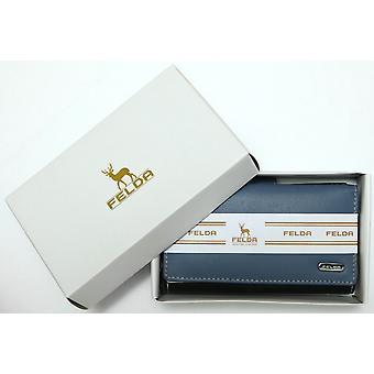 Felda RFID damer Plånbok Purse äkta läder Multi färg mjuk kreditkort presentbox