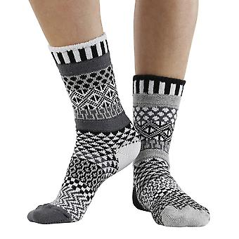 Midnight recycled cotton multicolour odd-socks   Crafted by Solmate