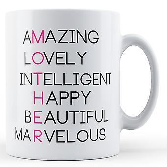 Décoratifs écrit mère - Mug imprimé