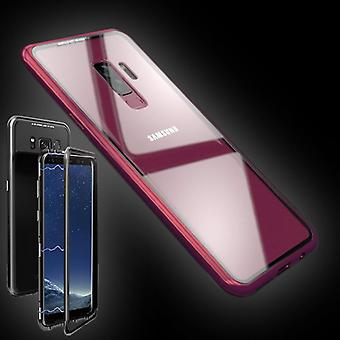 For Samsung Galaxy S9 N960F magnet / metal / glass case bumper pink / transparent case cover new