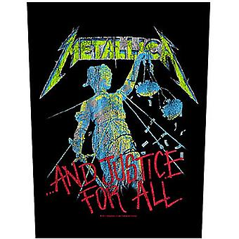 Metallica And Justice For All jumbo sized sew-on cloth backpatch 360mm x 300mm (ro)