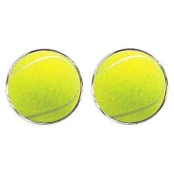 Bassin et boutons de manchette balle Tennis brun - jaune