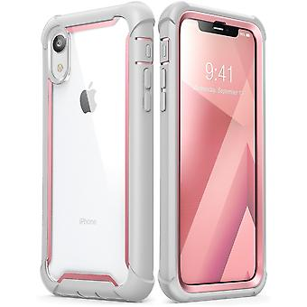 iPhone XR Case, [Ares] Full-Body Rugged Clear Bumper Case with Built-in Screen Protector (2018 Release)(Pink)
