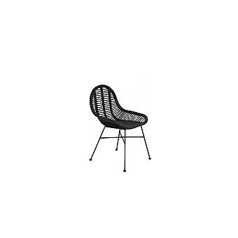 Light & Living Chair 69x56x86 Cm BOGOR Rattan Black