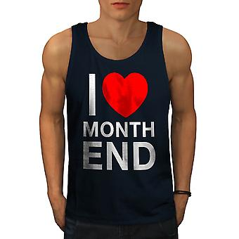 Accountant liefde mannen NavyTank Top | Wellcoda