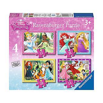 Disney Princess puslespill, 4 inne 1