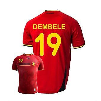 2014-15 Belgio World Cup Casa Shirt (Dembele 19)