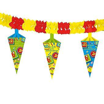 Обратно в школу партии 4m гирлянда с костяшки, обучение Вымпел баннер детский праздник