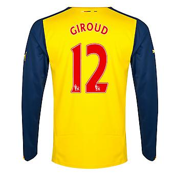 2014-15 Arsenal Long Sleeve Away Shirt (Giroud 12)
