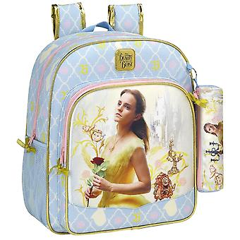Disney Princess Belle backpack bag 38x32x12cm + pencil case