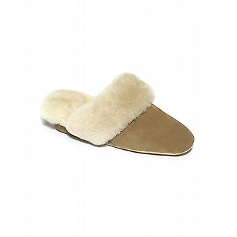 Ladies Moffat Sheepskin Slippers - Mole