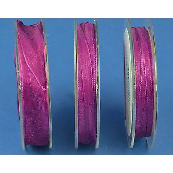 SALE - 3mm Rich Purple Organza Craft Ribbon - 10m | Ribbons & Bows for Crafts