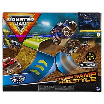 Monster Jam Champ Ramp Freestyle avec Die-Cast Truck 1:64