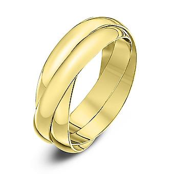Star Wedding Rings 9ct Yellow Gold 3mm Russian Wedding Ring