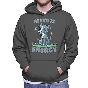 Nervöse Energie Greyhound Hund Herren Sweatshirt mit Kapuze