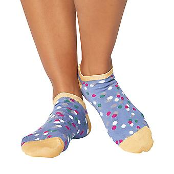 Faerie women's soft bamboo anklet/ trainer socks, sea blue | Thought