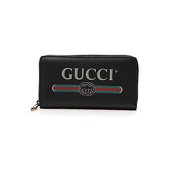 Gucci-schwarz-Leder-Geldbörse