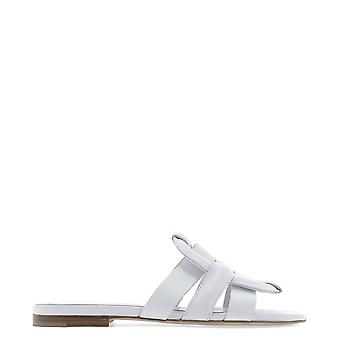 Morobé White Leather Sandals