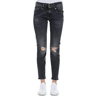 R13 Aiden Black Cotton Jeans