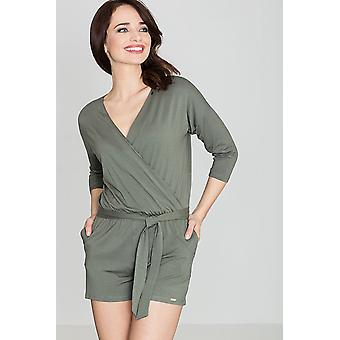 Lenitif women's jumpsuits overall olive green