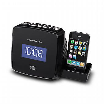 CD clock radio / MP3 with iPod dock / rechargeable iPhone.