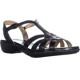Naturalizer Womens Nella Leather Open Toe Casual Slingback Sandals