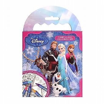 Party Bag Filler Disney Frozen Carry Along Colouring Set Kids Travel Pack of 5 (FNCAR)