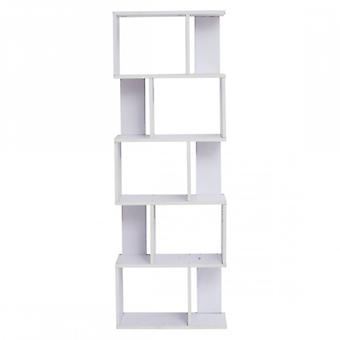 Rebecca Furniture Shelf Bookcase 5 shelves wood white style Urban living room bedroom