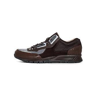 Lanvin Lanvin Brown & Dark Grey Suede, Leather & Mesh Runner