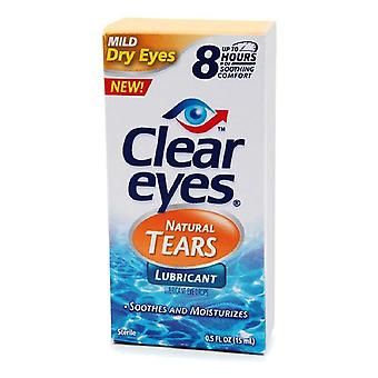 Clear eyes natural tears lubricant, 0.5 oz