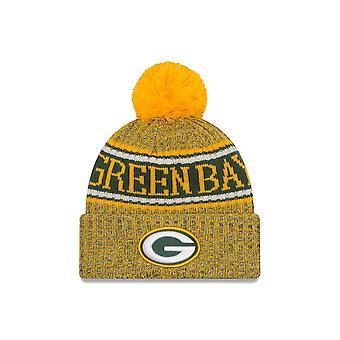 Nowa Era Nfl Green Bay Packers 2018 Sideline odwrotnej Sport dzianiny