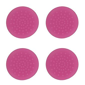 TPU analoge duim grip stick concave covers caps voor Xbox 360-4 pack roze