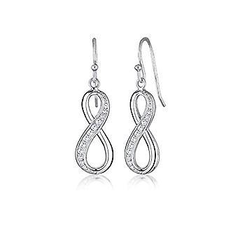 Elli Silver Women's Earrings 925 with White Cubic Zirconia 0.002ct