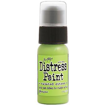 Tim Holtz Distress Paint 1oz Bottle-May-Twisted Citron TDD-43652