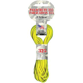 Parachute Cord 3Mm 21 Feet Pkg Neon Yellow Para2 127
