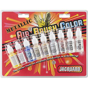 Jacquard metalen Airbrush Exciter Pack 8 kleuren Jac9936