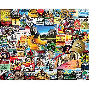Puzzle Puzzle 1000 pièces 24 « X 30 »-Nationalpark Badges WM1057