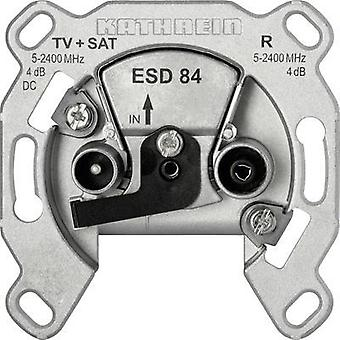 Antenna socket TV, SAT Kathrein ESD 84 Flush mount