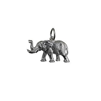 Silver 10x20mm Elephant Pendant or Charm
