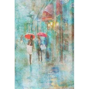 Deszczowa w Paris IV Poster Print przez Ramona Murdock