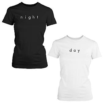 Night and Day Cute BFF Shirts Trendy Best Friends Black and White Matching Tees