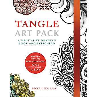 Tangle Art Pack: A Meditative Drawing Book and Sketchpad (Hardcover) by Krahula Beckah