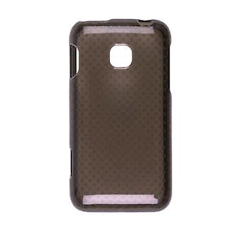 Wireless Solutions - Dots Dura-Gel Case for LG Optimus 2 AS680 - Smoke