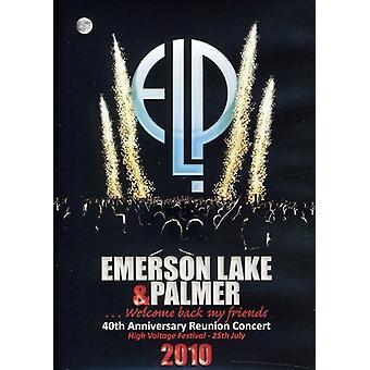 Emerson søen & Palmer - 40th Anniversary Reunion Concert [DVD] USA importerer