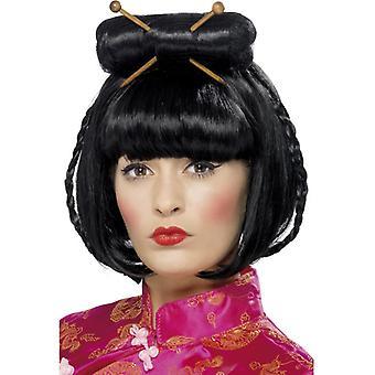 Oriental Lady parykk, svart
