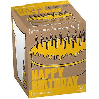 Planting Kit-happy birthday Honeysuckle seeds 4-piece me grow box