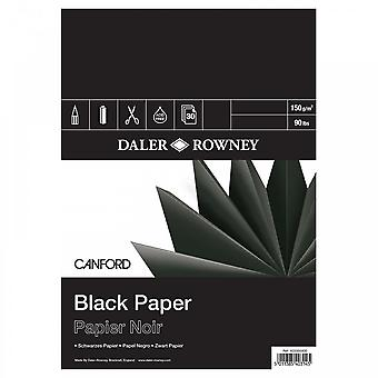 Daler Rowney Canford Pad engomado negro A4