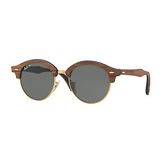 Ray-Ban Clubround Wood Brown Sunglasses RB4246M-118158-51