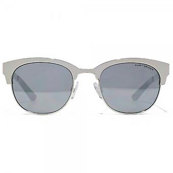 Kurt Geiger Rebecca Metal Preppy Sunglasses In Light Gunmetal