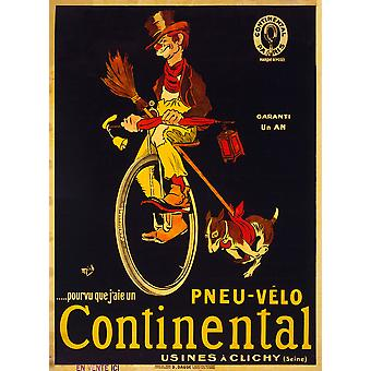 If only I had a Continental bicycle tire Poster Print Giclee